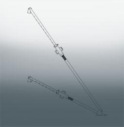 Подкос 2-уровневый телескопический